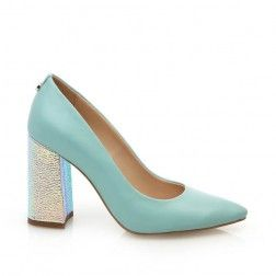 Nataly - Pantof din piele turquoise